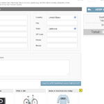 single screeen checkout page shipping address