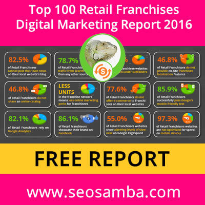 SeoSamba releases Top 100 Retail Franchises Digital Marketing Performance Report 2018