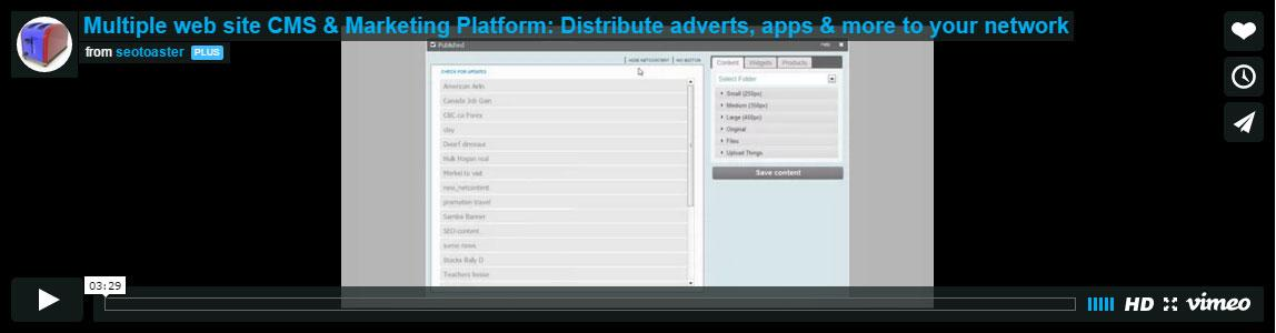 create your own network of adverts and apps